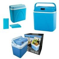 COOL BOX 24L 24 LITRE COOLBOX COOLER CAMPING BEACH PICNIC 12v 240v ICE LARGE