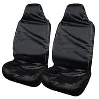 Universal Front Van Seat Covers Protectors Black Water Resistant Heavy Duty New
