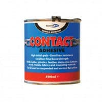 Contact Adhesive Plastic Metal Wood Rubber Leather Laminate Fabric Strong 500ml