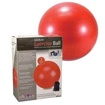EXERCISE GYM YOGA SWISS BALL FITNESS PREGNANCY BIRTHING ANTI BURST BALLS 65CM