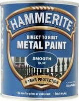 HAMMERITE SMOOTH BLUE DIRECT TO RUST QUICK DRYING METAL PAINT 750ML
