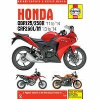 Haynes Manual Honda CBR125R 2011-18 CBR250R CBR300R Workshop Manual