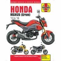 Haynes Manual Honda MSX125 2013-18 GROM 124.9cc Workshop Manual