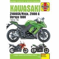 Haynes Manual Kawasaki Z1000 2010-16 Ninja Versys 1000 Workshop Manual