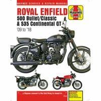 Haynes Manual Royal Enfield 500 2009-18 Bullet Classic 535 Continental GT