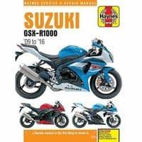 Haynes Manual Suzuki GSX-R1000 2009-16 999cc Workshop Manual