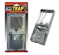 METAL RAT TRAP PEST CONTROL RODENT INDOOR OUTDOOR CATCHER