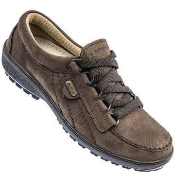 Lackner 'Tiffany' shoes in brown nubuck leather