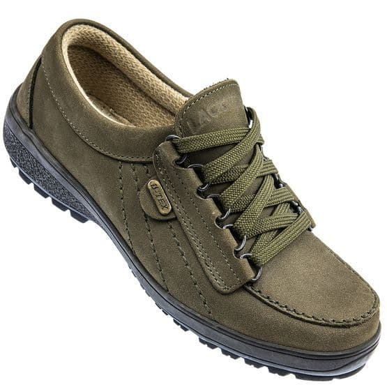 Lackner 'Tiffany' shoes in Loden green nubuck leather
