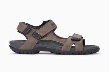 Mephisto 'BRICE' Pewter/Grizzly Sandals