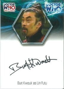 2003 Strictly Ink Doctor Who  BURT KWOUK  40th Anniversary Autograph Card  -  10631