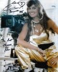 Caroline Munro  HAMMER HORROR / BOND Genuine signed autograph 10 by 8  12009