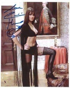 Caroline Munro HAMMER HORROR Genuine Signed Autograph 10 x 8 COA 4583