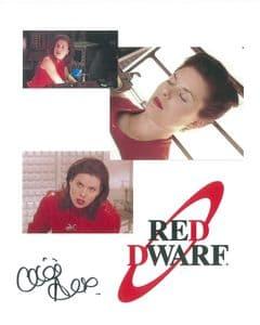 Chloe Annett RED DWARF  Genuine Signed Autograph 10x8 COA 9128