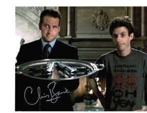 Chris Barrie Tomb Raider genuine signed autograph 10x8 COA 2411