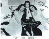 Damien Thomas & Mary & Madeline Collinson 'HORROR' - Genuine Signed Autograph 10x8 COA 11167