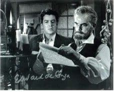 Edward de Souza 'Kiss of the Vampire', HAMMER HORROR Genuine Signed Autograph 10 x 8 COA 32301