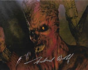 Gabriel Woolf DOCTOR WHO genuine Signed autograph 10 x 8  COA 11758