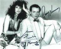 Gary Human & Caroline Munro - Genuine Signed Autograph 7495