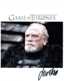 James Cosmo signed 8 by 10 Highlander, Braveheart, Game of Thrones,etc