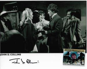 John D Collins HAMMER HORROR Genuine Signed Autograph 10x8 COA 11744