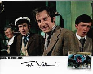 John D Collins HAMMER HORROR Genuine Signed Autograph 10x8 COA 11745