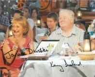 Kenny Ireland & Janine Duvitski (Benidorm) - Genuine Signed Autograph (4)