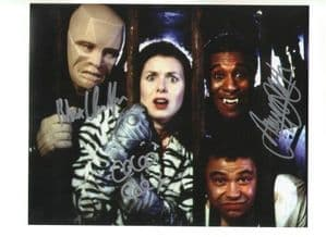 Red Dwarf photo signed by Rober Llewellyn, Danny John-Jules and Chloe Annett