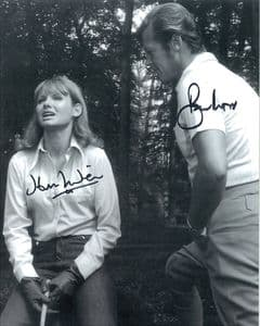 Sir Roger Moore and Jennie Linden