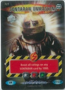 SONTARAN UNMASKING #727  Doctor Who ULTIMATE MONSTERS  Battles InTime Ultra Rare UR3D Card-  10667