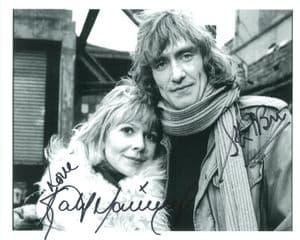 Stewart Bevan & Katy Manning - Genuine Signed Autograph 8314