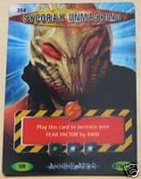 SYCORAX UNMASKING SERIES # 354, Annihilator Series, Battles in Time Ultra Rare UR3D Card- 10603