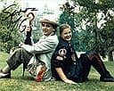 """SYLVESTER MCCOY """"7th Doctor"""" & SOPHIE ALDRED """"Ace"""" (DOCTOR WHO) genuine signed autograph COA 684"""