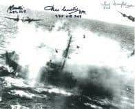 Ted Dunsford & Brian Beattie & Des Curtis (WW2 Pilots) - Genuine Signed Autograph 7761