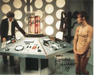 Tom Baker, Louise Jameson  - Multi signed DOCTOR WHO Genuine Signed Autographs 10 x 8 COA 10262