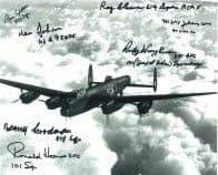 World War 2 Pilots (x7 Autographs) - Genuine Signed Autograph