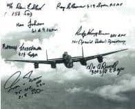 WW2 Pilots (7 Autographs) - Genuine Signed Autograph 7747