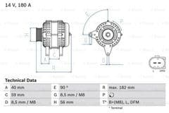 Alternator 2.0 TDi With Clutch Pulley by Bosch