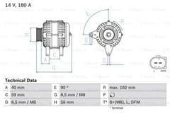 Alternator 2.0 TFSi With Clutch Pulley by Bosch