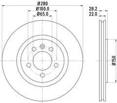 Brake Disc Front 280x22mm