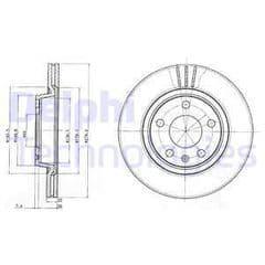 Brake Disc Front 280x25mm