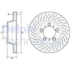 Brake Disc Rear 997 Carrera 2S/4S 330x28mm