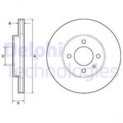 Brake Discs Front 256 x 20mm Vented