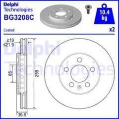 Brake Discs Front 256 x 22mm