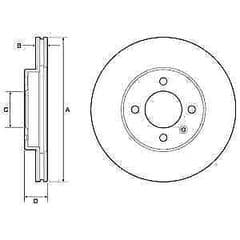 Brake Discs Front 256 x 25mm Vented