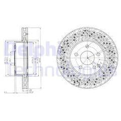 Brake Discs Front 295x28mm (Models With Drilled Discs)