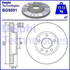 Brake Discs Front 309x29.5mm