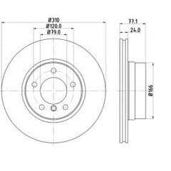 Brake Discs Front 310x24mm