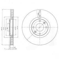 Brake Discs Front 312x23.9mm