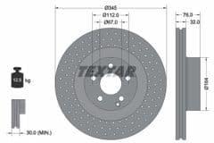 Brake Discs Front 345x32mm